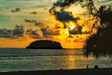 beach nature travel sea sunset