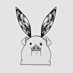 freetoedit art pig