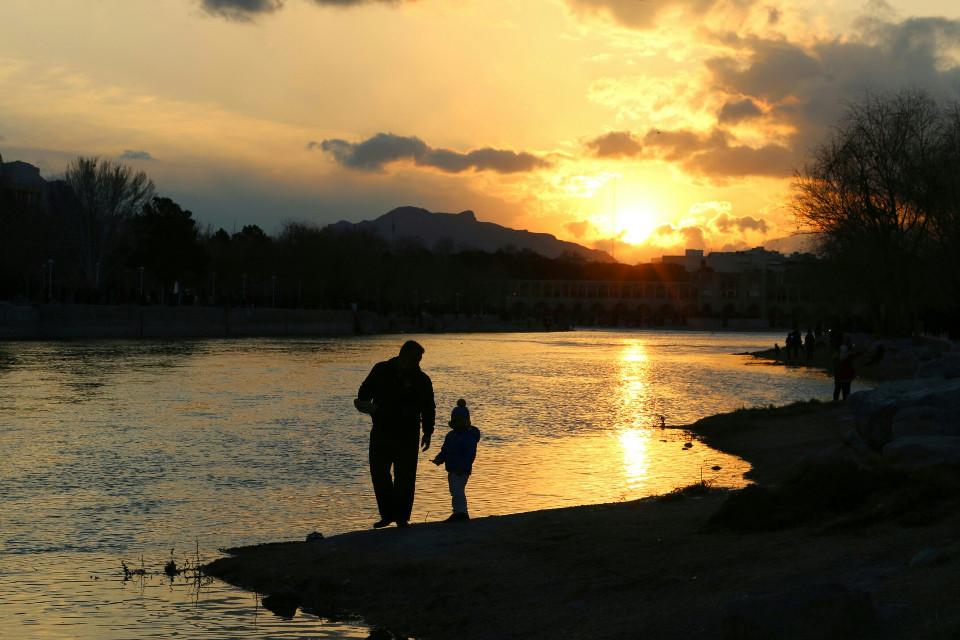 #FreeToEdit  #dad #son #sun #iran #isfahan  #sunset  #father  #zayanderud  #love #family #freetoedit