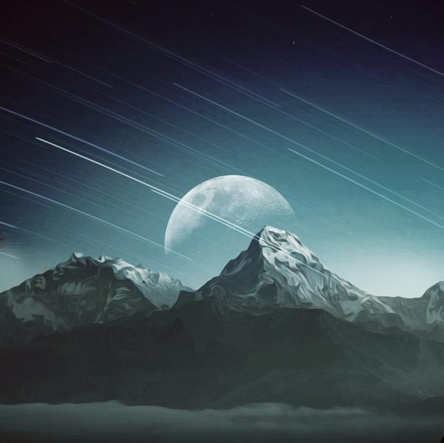 #madewithpicsart  #moon  #painteffect  @freetoedit  @pa