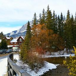 canmore alberta winter canada travel