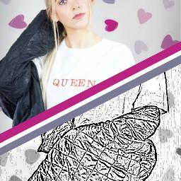 fashionreadyremix freetoedit sketched sliced hearts