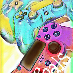 ps4 controler colorful games goals freetoedit