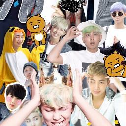 bts namjoon rapmonster kpop collage