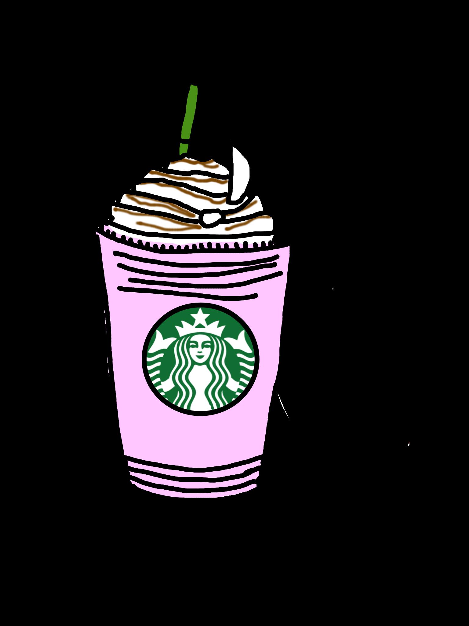 starbucks drink tumblr pink whippedcream logo cute past...