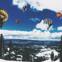 freetoedit myrmx hotairballoons dramaeffect
