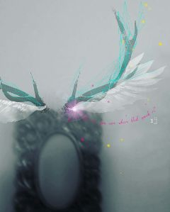 wings drawingtools blackandwhite mirror blur