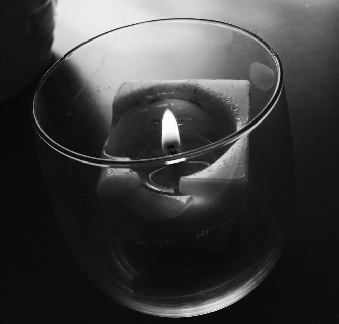 silence #photography #personal #blackandwhite #photography #black&white #candle #rip #home