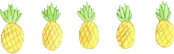 yellow pinapple piña verde green